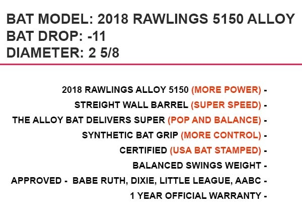 Rawlings Alloy Baseball Bat Reviews